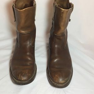 Vintage Red Wing Men's 10 work boots pull on